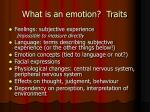 what is an emotion traits