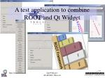 a test application to combine root and qt widget