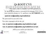 qt root cvs