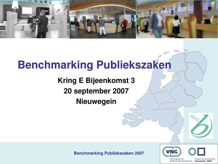 benchmarking publiekszaken n.