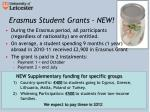 erasmus student grants new