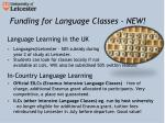 funding for language classes new