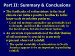 part ii summary conclusions