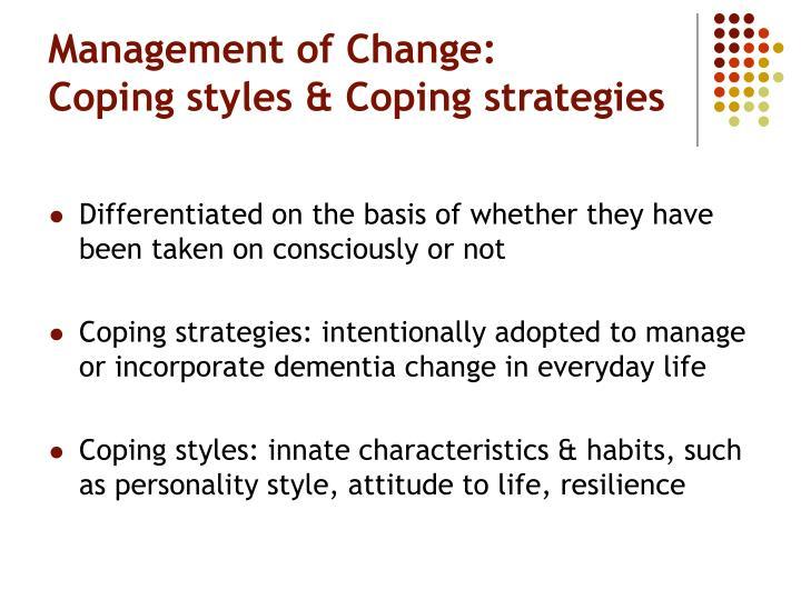 Management of Change: