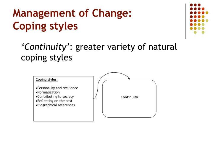 Coping styles: