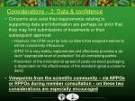 considerations 2 data confidence