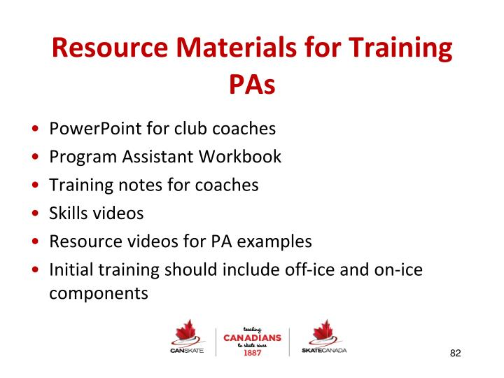 Resource Materials for Training PAs