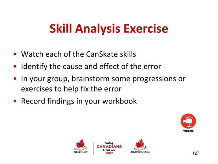 Skill Analysis Exercise