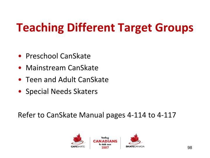 Teaching Different Target Groups