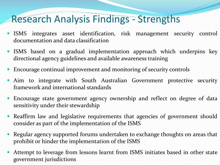 Research Analysis Findings - Strengths