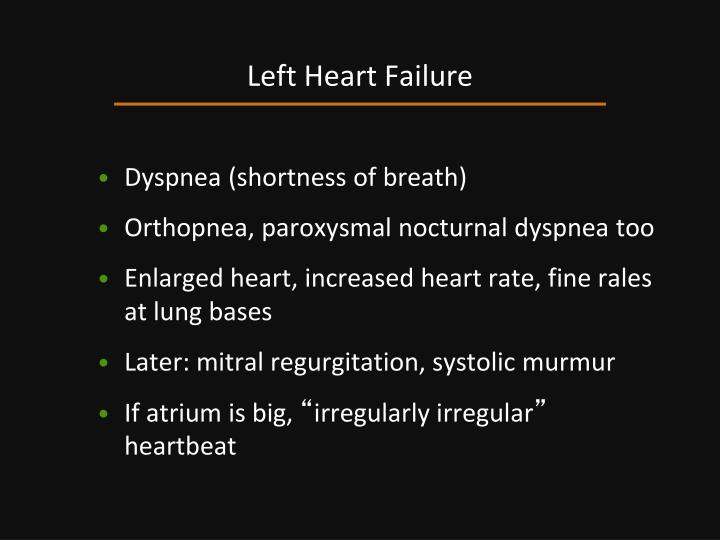 Left Heart Failure