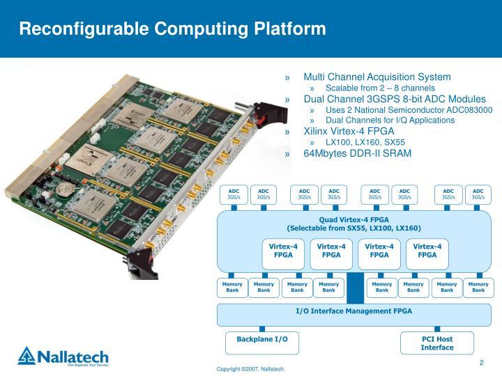 Reconfigurable computing platform