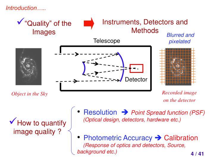 Instruments, Detectors and Methods