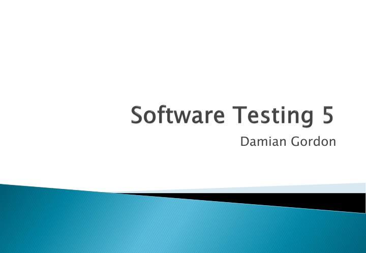 software testing 5 n.