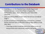 contributions to the databank