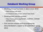 databank working group