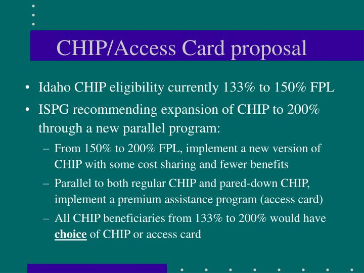 CHIP/Access Card proposal