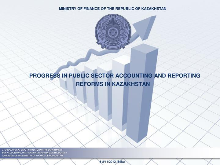 progress in public sector accounting and reporting reforms in kazakhstan n.