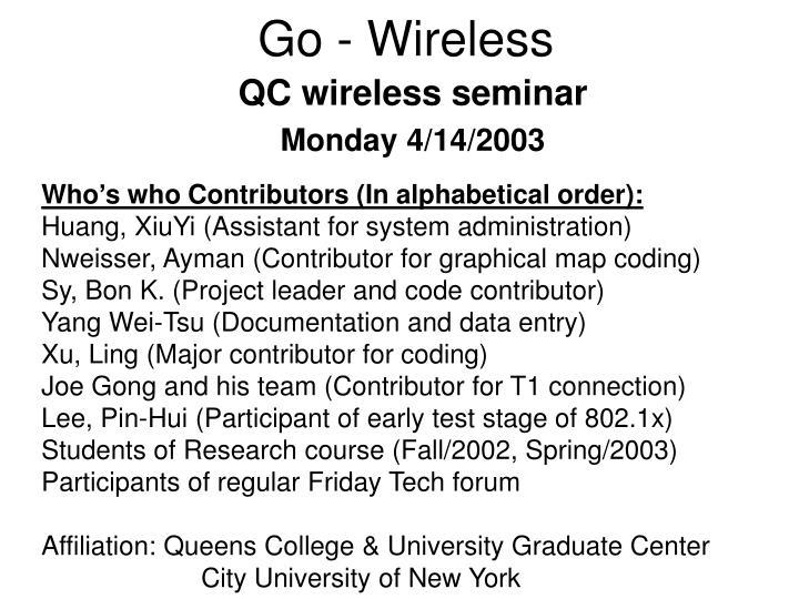 go wireless n.