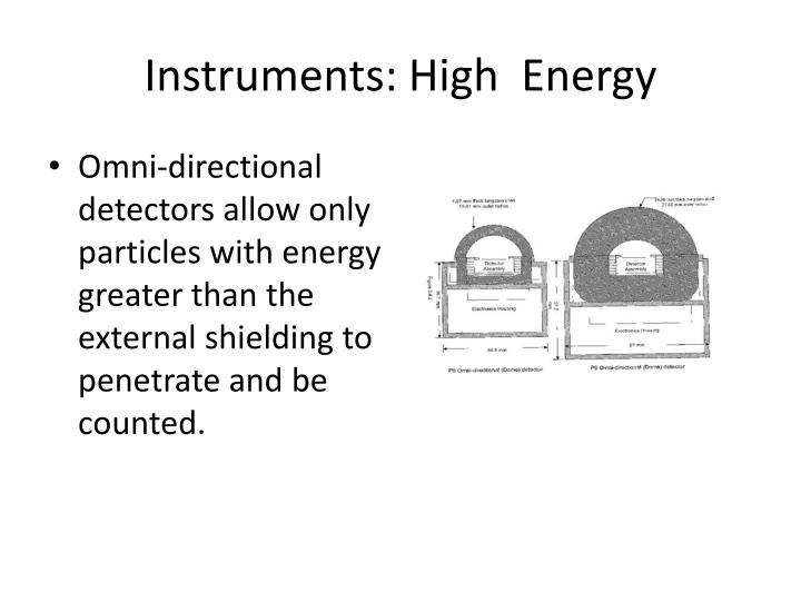Instruments: High  Energy