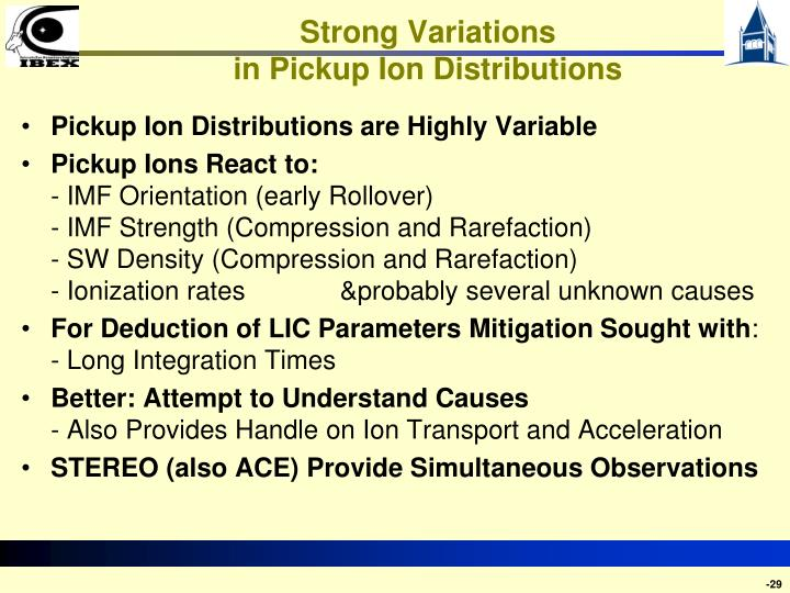 Strong Variations
