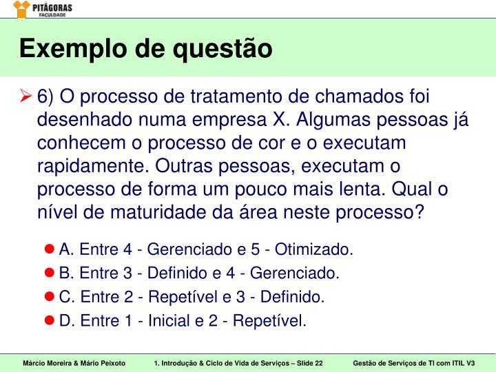Exemplo de questão