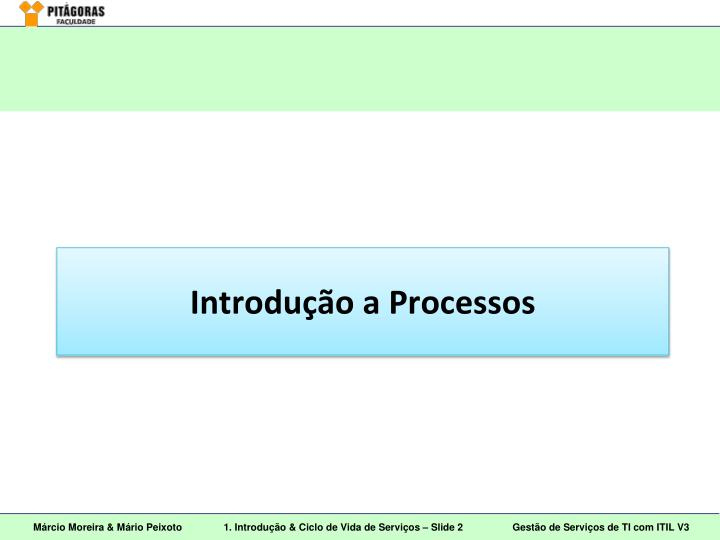 Introdu o a processos