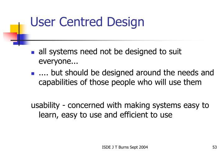 User Centred Design