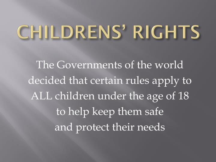 childrens rights n.