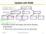 updates with isam