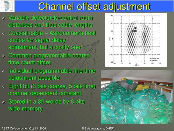 Channel offset adjustment