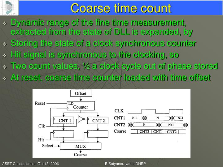 Coarse time count