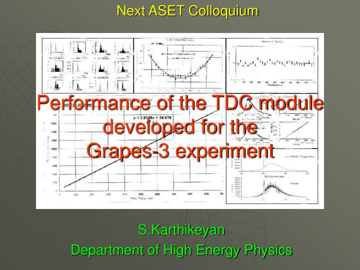 Performance of the tdc module developed for the grapes 3 experiment