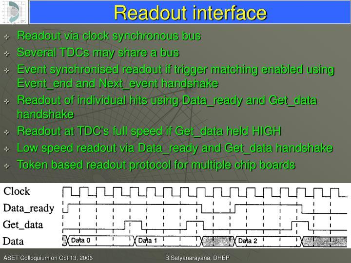 Readout interface