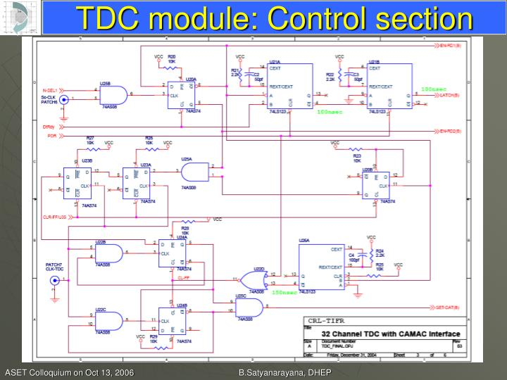 TDC module: Control section