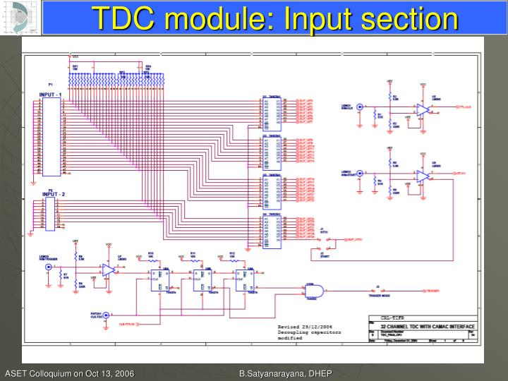 TDC module: Input section