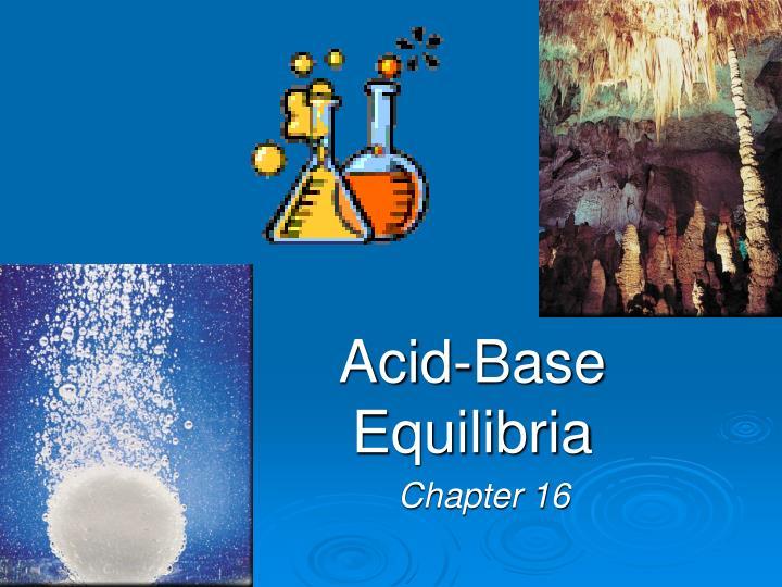 acid base equilibria n.