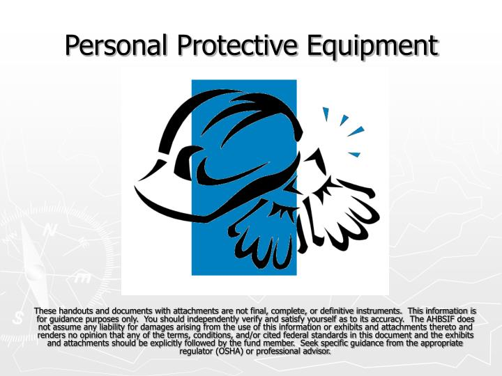 the personal protective equipment health and social care essay Thus, personal protective equipment should not be regarded as a primary means to control hazards but rather as a supplement to other types of control measure factor to consider in the selection of ppe ppe should be carefully selected the following criteria should be met when choosing ppe give.