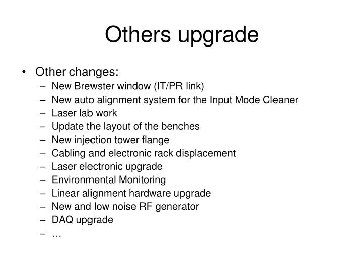 Others upgrade