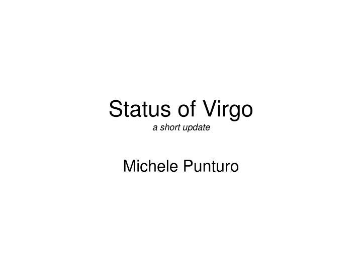 Status of virgo a short update
