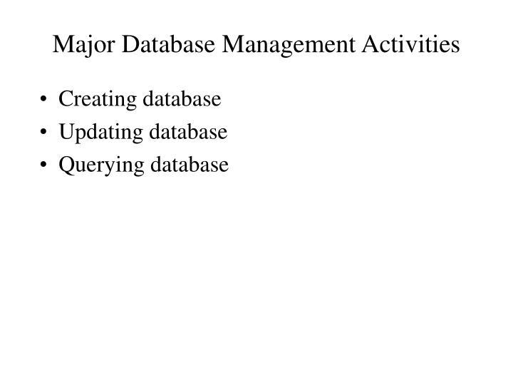Major Datab