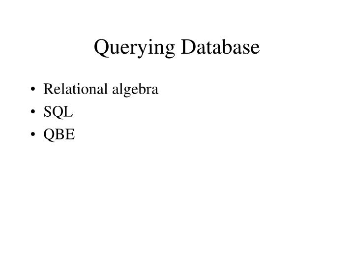 Querying Database