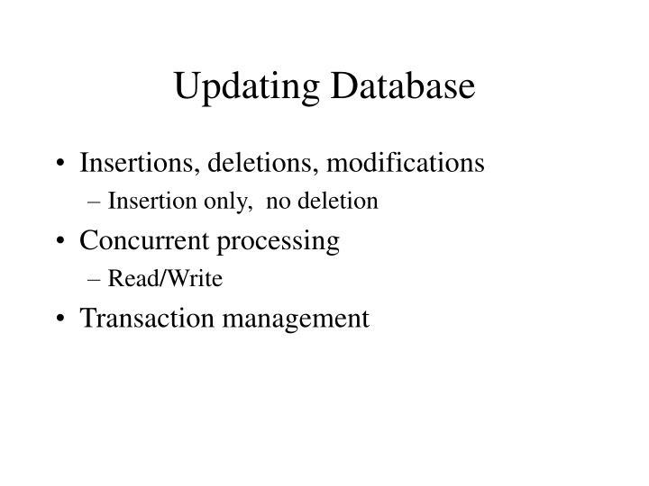 Updating Database