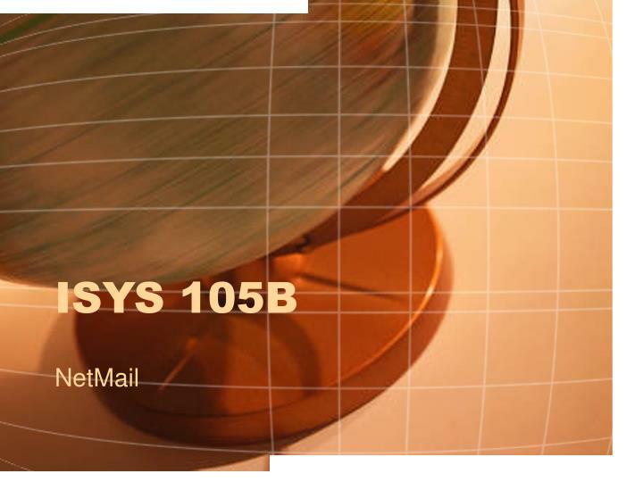 isys 105b n.