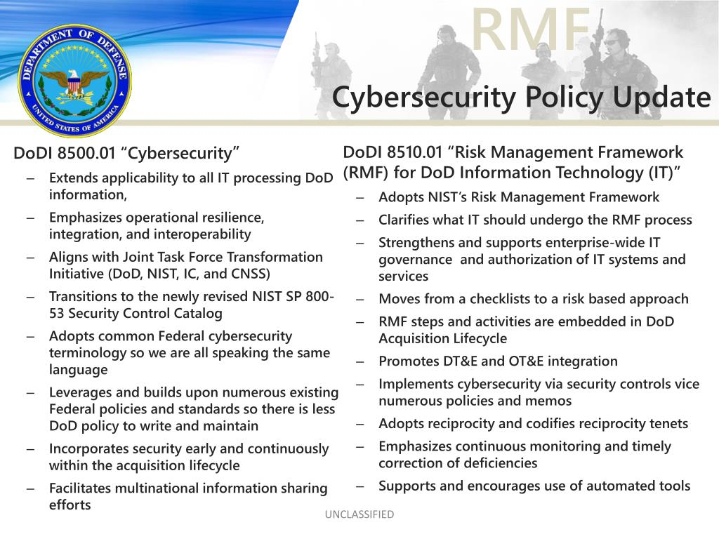 PPT - Cybersecurity and the Risk Management Framework