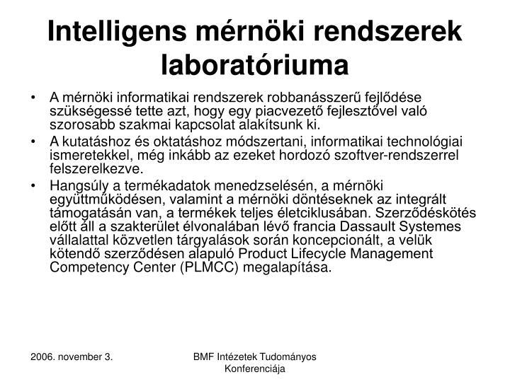 Intelligens mérnöki rendszerek laboratóriuma