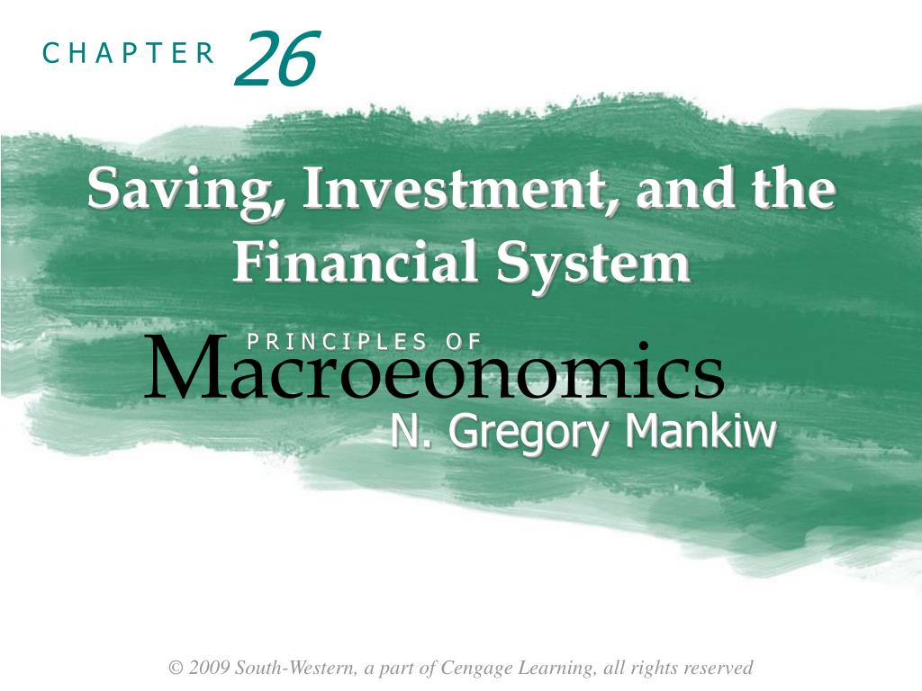 Saving investment and the financial system mankiw ppt first investment bank mall serdika