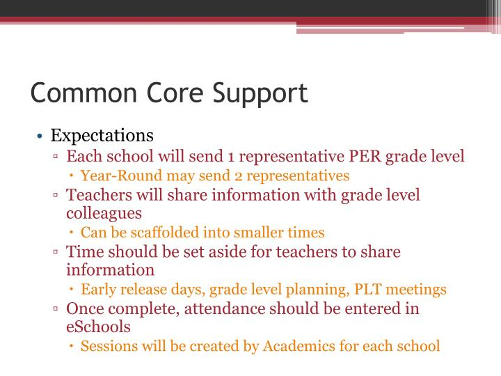 Common Core Support