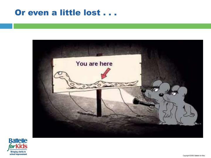Or even a little lost . . .