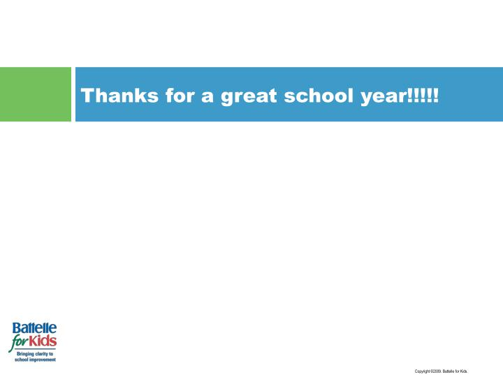 Thanks for a great school year!!!!!